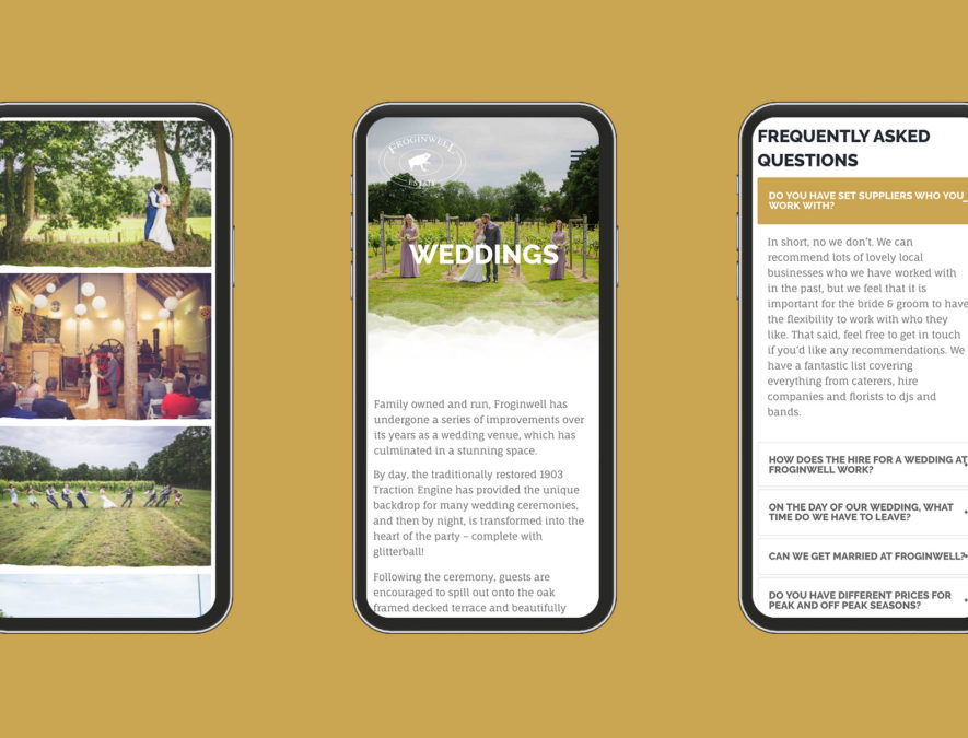 frognwell website on mobile screens