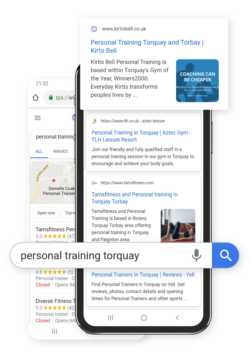 Devon SEO for personal trainer website